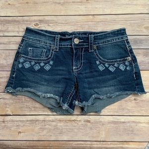 Maurices Embroidered Denim Shorts